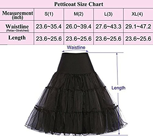 NUOMIQI 50er Jahre Petticoat Vintage Retro Reifrock Petticoat Unterrock für Wedding Bridal Petticoat Rockabilly Kleid in Mehreren Farben grüne