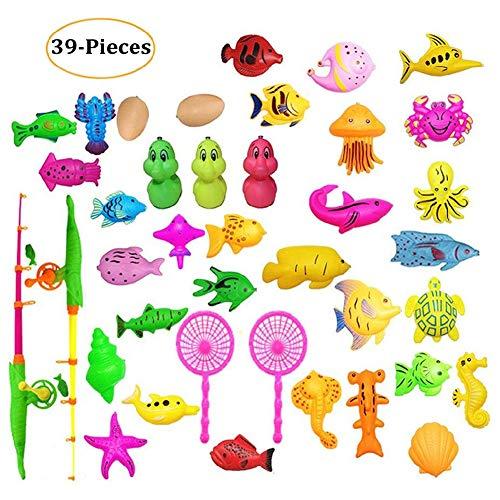 Antrygobin Kunststoff-Angelspielzeug für Kinder, 39 Teile (Militär-auto-magneten)