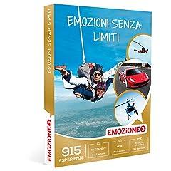 Idea Regalo - Emozione3 - Cofanetto Regalo - Emozioni Senza Limiti - 915 esperienze selezionate tra Sport, cene e Wellness