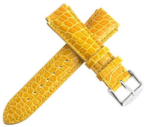 chase-durer Damen Senf Gelb echt Alligator Leder Uhrenarmband 18mm