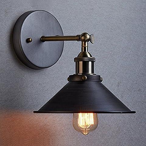 yuewei® Vintage Industrial Metal Negro Tono Bronce Lámpara de pared lámpara de pared plegable luz de