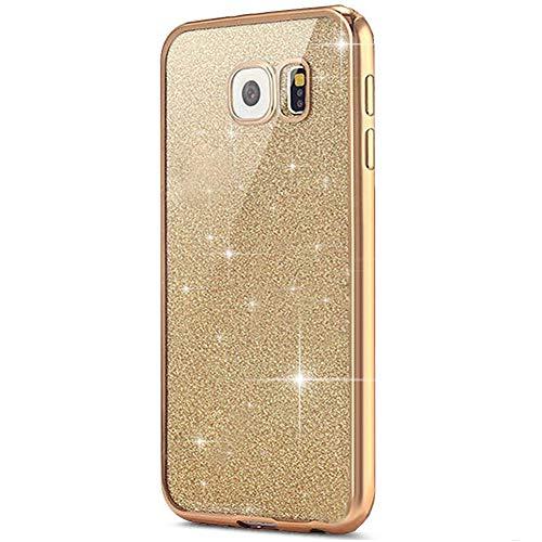 kompatibel mit Galaxy S7 Hülle,Galaxy S7 Silikon Hülle Glitzer,Galaxy S7 TPU Silikon Bumper Handyhülle Schutzhülle,Ultradünn TPU Silikon Hülle Schutz Handy Hülle Case,Gold