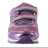 Disney Toddler Girls Princess Pink and Purple Light-Up Sneakers (9 Toddler Girls US M)