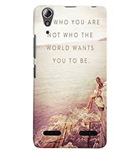 Citydreamz Be Yourself\Quotes Hard Polycarbonate Designer Back Case Cover For Lenovo A6000 Plus