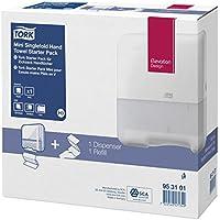 Tork 953101 Starter Pack pour papier essuie-mains pliés en V - Mini Xpress H3 - Design Elevation - Blanc