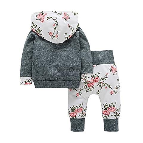 Babykleidung,GUT® 2pcs Kleinkind Baby Junge Mädchen Kleidung Set Hoodie Tops + Pants Outfits (12-18 m)