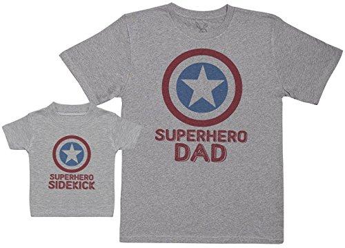 Superhero Sidekick - Regalo para Padres y bebés en un Camiseta para b