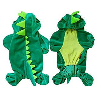 Dinosaur Pet Clothing Puppy Dog Coat Clothes Apparel Hoodie Jumpsuit Costume Outfit Dinosaur Pet Clothing Puppy Dog Coat Clothes Apparel Hoodie Jumpsuit Costume Outfit 51IvrgZZQvL