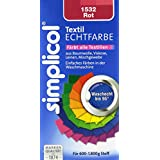 Simplicol 1532 Textil-Echtfarbe, flüssig, Rot, 150 ml