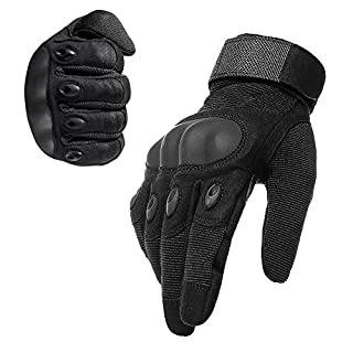 AVSUPPLY Taktische Handschuhe Motorrad Handschuhe Herren Vollfinger für Airsoft Militär Paintball Downhill Fahrrad und Andere Outdoor Aktivitäten(Schwarz, L)