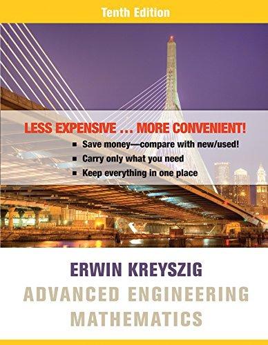 Advanced Engineering Mathematics 10e Binder Ready Version + WileyPLUS Registration Card by Erwin Kreyszig (2015-03-16)