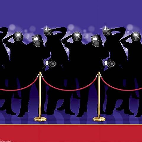 Hollywood Awards Night Scene Setter Backdrop Room Roll - RED
