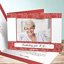 Einladung 80er Party Geburtstag, Herbstwind Foto 35 Karten, Horizontale  Klappkarte 148x105 Inkl. Weiße