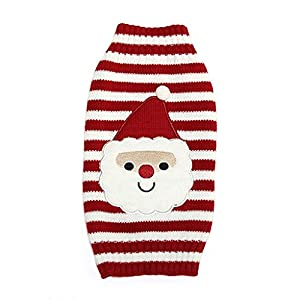 maltonyo17cadeau décoration de Noël Père Noël pour petit chien adorable Pull pour chiot costume pour chien Taille M