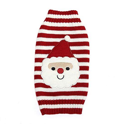 PRIMI Tiny Kleiner Hund Welpen Santa Muster Pullover Weihnachten Kostüm (Santa Xxl Kostüme)