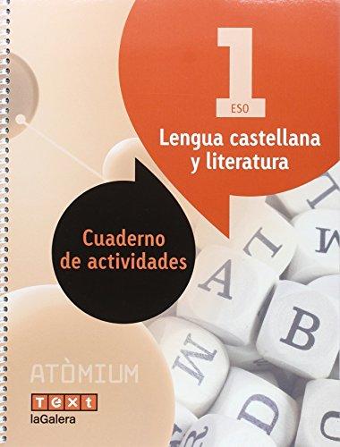 Lengua castellana y literatura Cuaderno de actividades 1 ESO Atòmium - 9788441224414