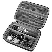 حقيبة برو كيس صلبة للسفر من سلسلة فيليبس نوريلكو متعددة الأغراض 3000 5000 7000 MG3750 MG5750/49 MG7750/49 ماكينة الحلاقة الكهربائية والمرفقات - أسود