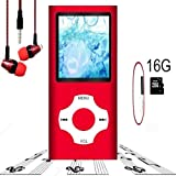 Hotechs. Lettore MP3, mit Einer 16 G micro sd-karte, Portable Digital Music player auch als Sprachaufzeichnung/FM/video/e-book-reader, 1,8 ' lcd-bildschirm economica MP3 player