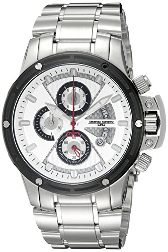 Jorg Gray Men's Quartz Watch with Silver Dial Chronograph Display and Silver Stainless Steel Bracelet JG8500-23