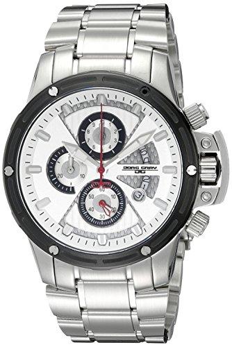 Jorg Gray JG8500-23 - Reloj cronógrafo de cuarzo para hombre con correa de acero inoxidable, color plateado