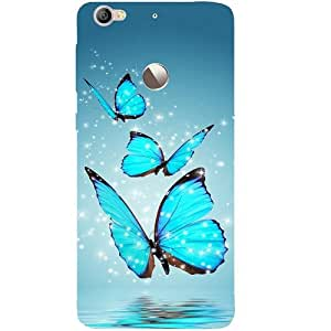 Casotec Flying Butterflies Patterns & Ethnic Design Hard Back Case Cover for LeTV Le 1s