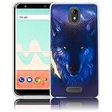 Wiko View GO Nacht Wolf Handy-Hülle Silikon - staubdicht, stoßfest & leicht - Smartphone-Case thematys