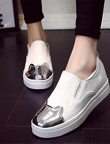 ZQ Scarpe Donna-Mocassini-Tempo libero / Casual-Creepers-Plateau-Finta pelle-Nero / Bianco , white-us8 / eu39 / uk6 / cn39 , white-us8 / eu39 / uk6 / cn39 white-us6 / eu36 / uk4 / cn36