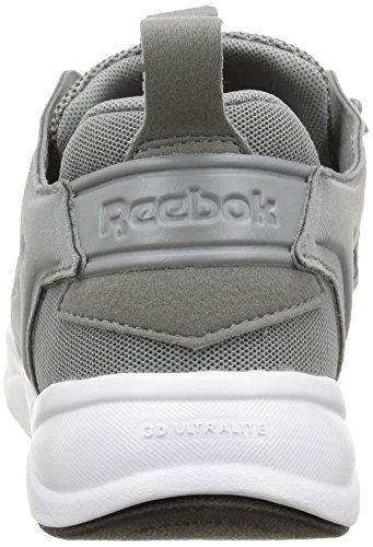 Reebok Furylite, Scarpe Sportive, Uomo Plat Gris / Blanc / Noir