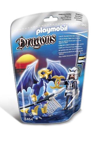 Playmobil Dragones - Dragón Hielo con guerrero (5464)