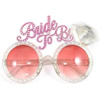 SHATCHI Bride to Be Glasses Novelty Accessories Fancy Dress Night Fun Hen Party Bag Fillers, Pink
