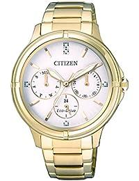 Citizen Damen-Armbanduhr Analog Quarz Edelstahl beschichtet FD2032-55A