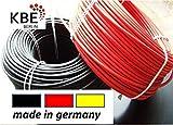KBE Solar Cable Set 10m rojo + 10m negro. 4mm² línea Sección transversal. Fabricado en Alemania.