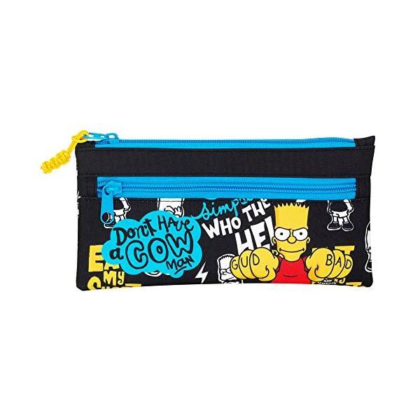 Safta- Estuche portatodo Dos Cremalleras, Color The Simpsons (811605029)