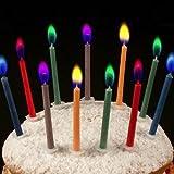 Find-me-a-gift - Velas de cumpleaños con llamas de colores