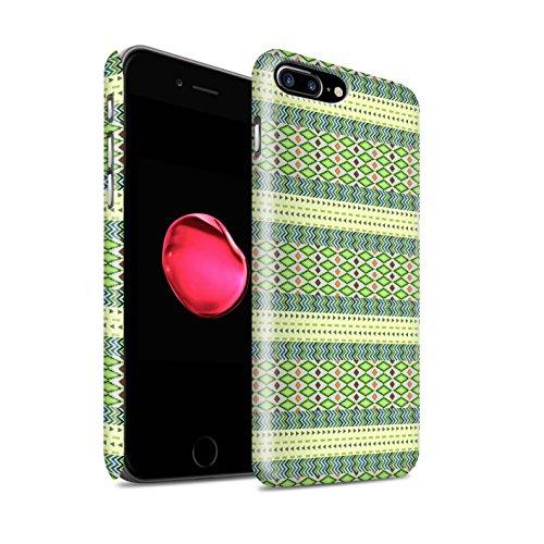 STUFF4 Matte Snap-On Hülle / Case für Apple iPhone 8 Plus / Grün Muster / Aztekische Stammes Muster Kollektion Grün