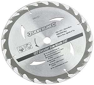 Silverline 260333 Lot de 3 lames circulaires TCT 20T, 24T et 40T 190 x 16 mm