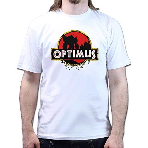 Jurassic Optimus Park Prime T-shirt Weiß