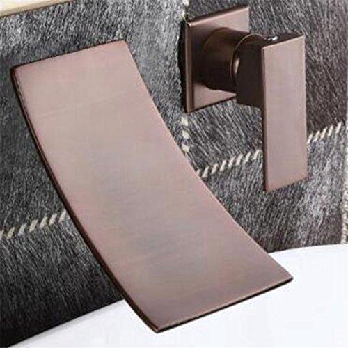 Latón cromado moderno grifo del baño | Cascada empotrables en la pared...