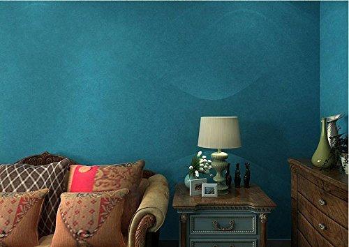 llpaper Feste Farbe hellblau dunkel blauen Seidentapete Tapeten plain Wohnzimmer Schlafzimmerwände gefüllt mit Pu ()