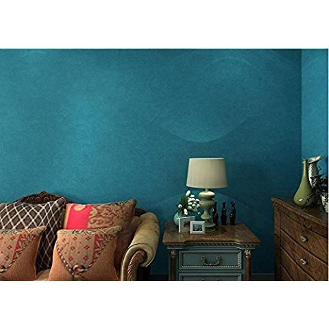 Carta da parati Luce blu tinta unita seta blu scuro della carta da parati carta da parati normale soggiorno camera da letto pareti piene di Pu - Foresta Nera Piazza Orologio