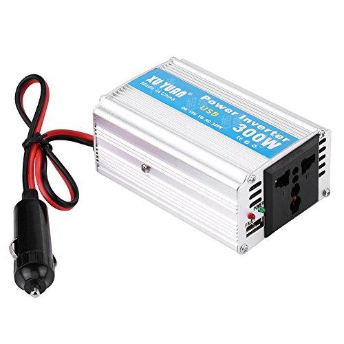 Keenso Kleine DC 12V auf AC 220 V Auto Power Inverter 300 Watt USB Schnelle Ladegerät Adapter mit USB Outlet Lange kabel