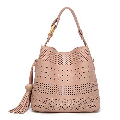 Mefly Stile Coreano Scolpiti Tipo Di Benna Singola Spalla Marrone Portatile Pink