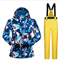 Jiuyizhe Chaqueta de esquí de Snowboard Transpirable Impermeable para Hombres de Exterior para Clima frío (Color : 06, Size : L)