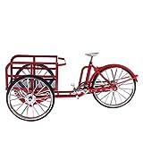 Dolity Escala 1:10 Modelo de Triciclo de Bici de Transporte de Aleación en Miniatura de Dollhouse