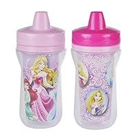 The First Years Y9056 - Disney Princess Isolierbecher, 250 ml, 2er Pack, der isolierte Becher kühlt oder wärmt die Getränke für Ihr Baby länger