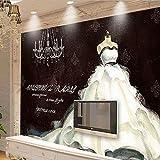 Dimensioni Personalizzabili Carta Da Parati Stile Europeo Retro Abito Da Sposa Negozio Di Abbigliamento Parete Da Parete Pittura Decorativa Panno Di Seta 368(Larghezza) X254(altezza) Cm