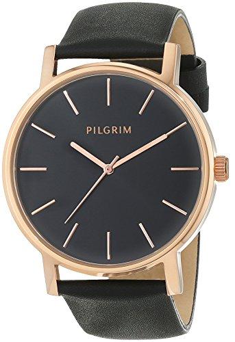 Pilgrim Damen-Armbanduhr Analog Quarz Leder 701444103