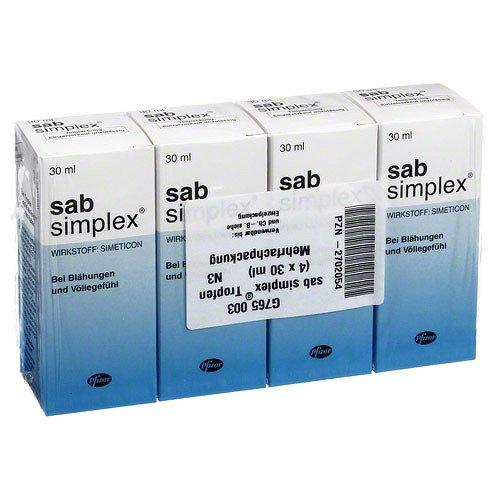 Sab simplex Suspension zum Einnehmen 4X30 ml