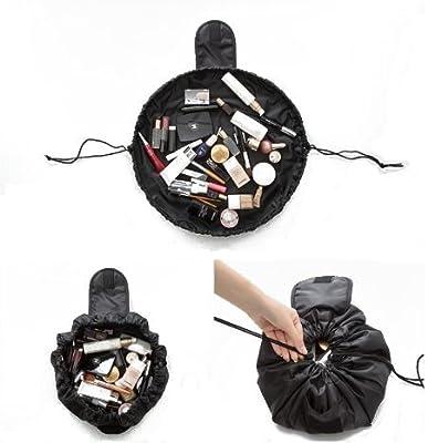 makeup bag eBuy Lazy Cosmetic Bag Toiletry Large Capacity Fashion Drawstring Portable Travel Storage bag for Women Girls