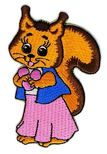 Baby Eichhörnchen Cartoon bestickt Nähen Eisen auf bestickte Applikation Craft handgefertigt Baby Kid Girl Frauen Tücher DIY Kostüm Zubehör
